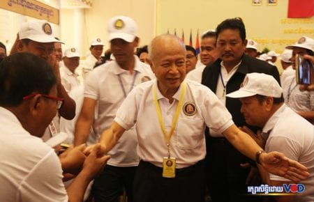 Funcinpec party president Prince Norodom Ranariddh at a party congress on September 23, 2017. (Chorn Chanren/VOD)