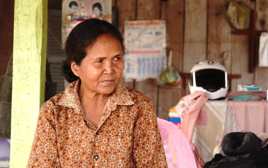Khin Pheap speaks at her home in Kampong Speu province's Phnom Sruoch district on January 19, 2021. (Tran Techseng/VOD)