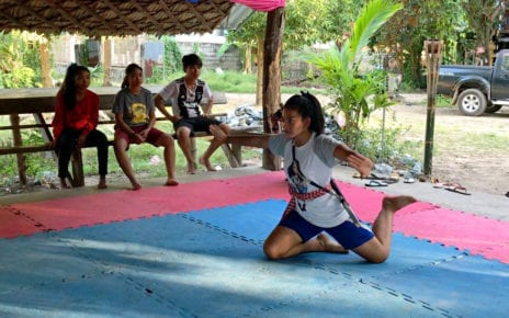 A l'bokator trainee, in Kampong Chhnang province's Rolea Ba'ier district. (Hy Chhay/VOD)