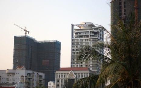 Buildings in Phnom Penh, on February 17, 2021. (Michael Dickison/VOD)