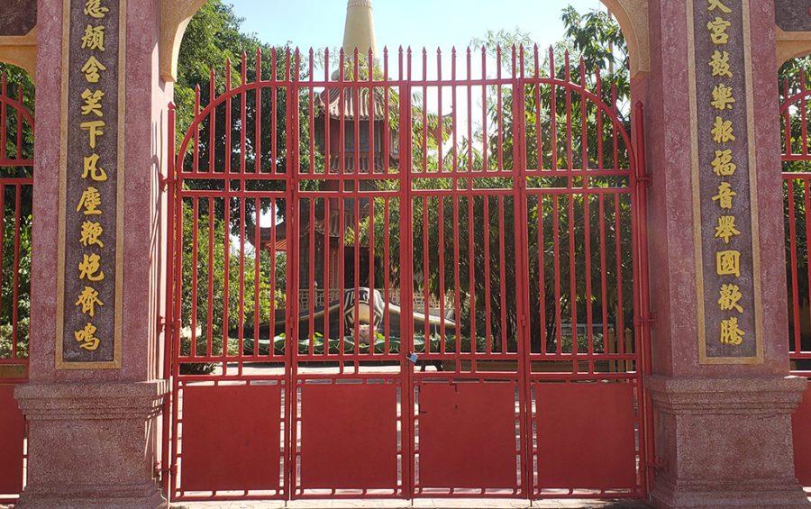 The new Yeay Mao shrine in Phnom Penh's Chroy Changvar district on December 13, 2020. (Danielle Keeton-Olsen/VOD)