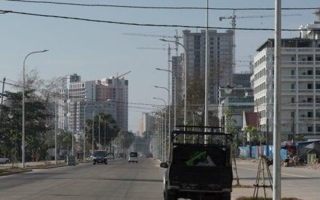 A street in Sihanoukville on January 21, 2021. (Tran Techseng/VOD)