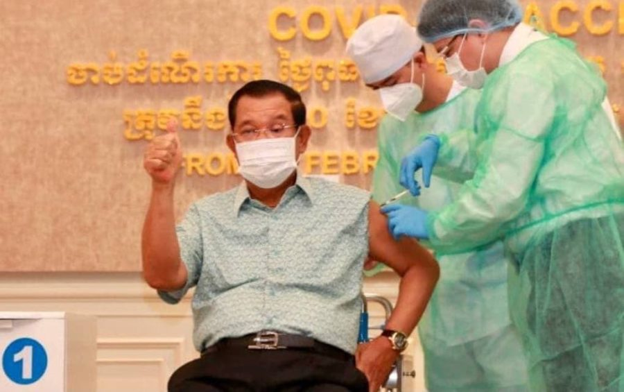 Hun Sen Vaccinated, Travel Ban Floated for Preah Sihanouk