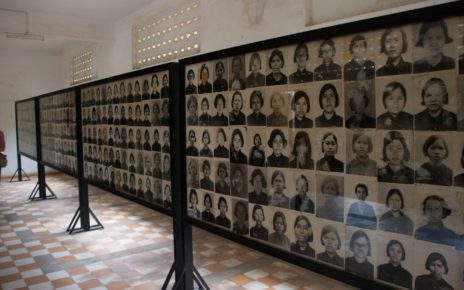 Photographic portraits of prisoners at the Tuol Sleng Genocide Museum. (Christian Haugen/Creative Commons)
