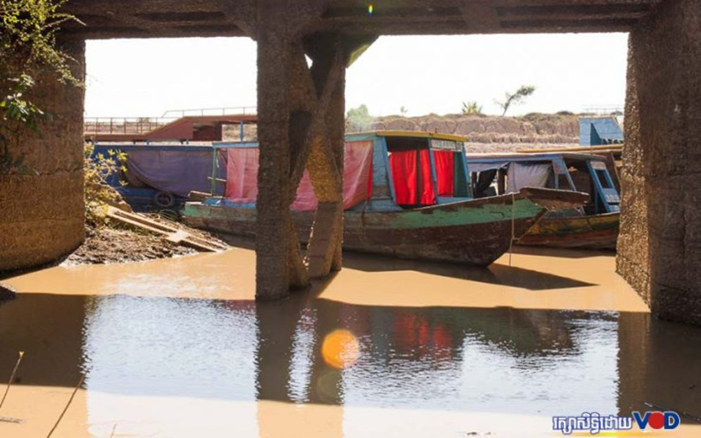 Boats in Siem Reap province on January 10, 2021. (Mech Choulay/VOD)