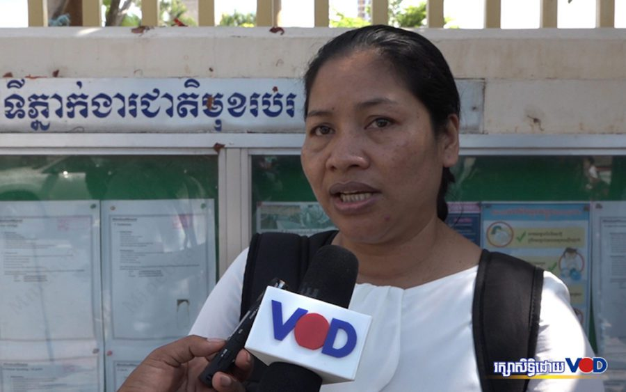 CATU president Yang Sophorn said workers at a Kampong Chhnang shoe factory were threatened when they attempted to form a union (Hy Chhay/VOD)