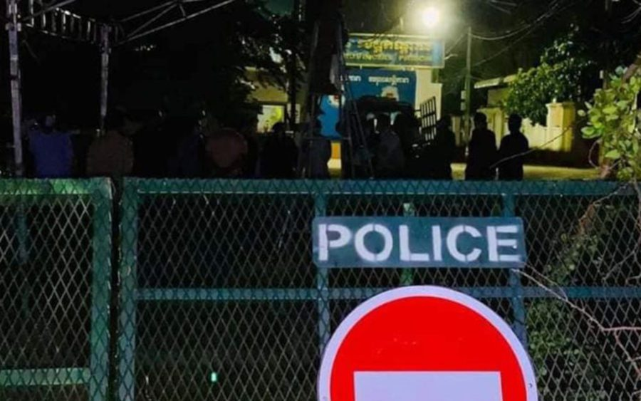 Kandal authorities examine the provincial prison, in a photo posted on Facebook by the Kandal provincial administration.