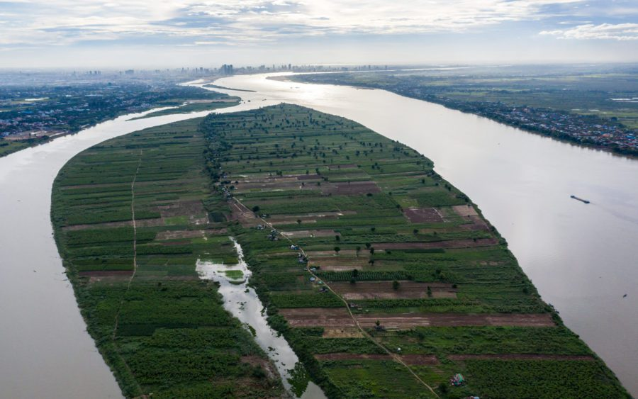 Kandal province's Koh Meas island, on the Mekong river, on June 16, 2021. (Andy Ball/VOD)