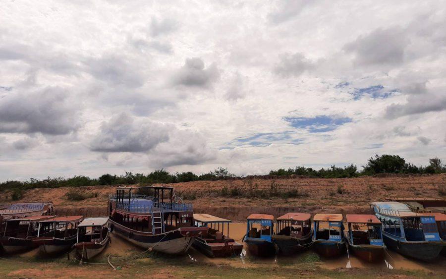 Low water in Siem Reap province's Kampong Phluk commune, on June 17, 2021. (Va Sopheanut/VOD)