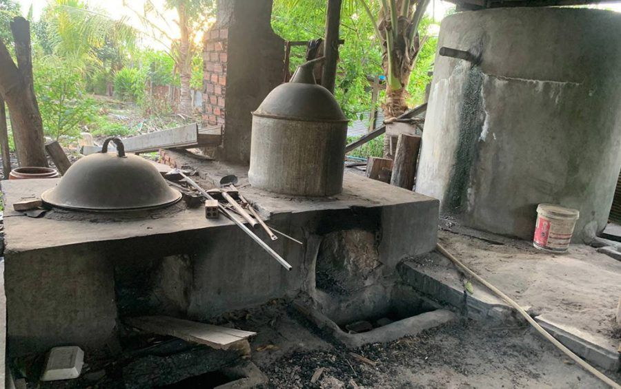 A rice wine production station in Stung Treng province. (Provided by Khai Vuthy)
