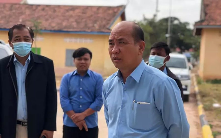 Banteay Meanchey province's Preah Netr Preah district governor Khou Pov, in a photo posted to the district administration's Facebook page on December 23, 2020.