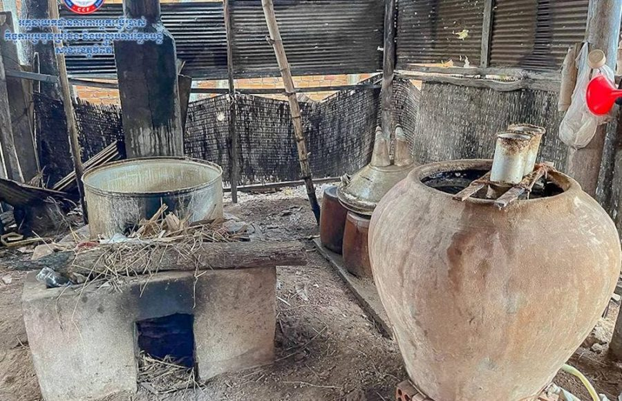 Rice wine producing equipment in Chhuk district, Kampot. (Director General of Consumer Protection, Competition, Fraud Suppression/Facebook)