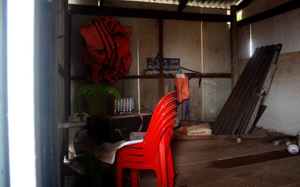 The Kep Thmey fishing community in Kampot province have built a shack for a radio studio, but it sits unused due to lack of approval, on August 26, 2021. (Michael Dickison/VOD)