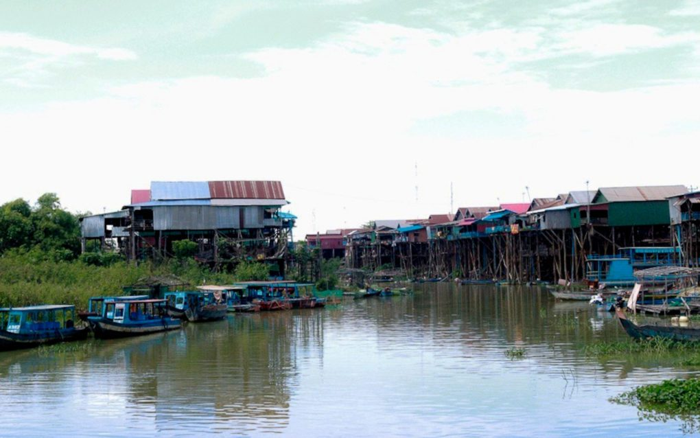 A fishing village in Siem Reap province in June 2021. (Mech Choulay/VOD)