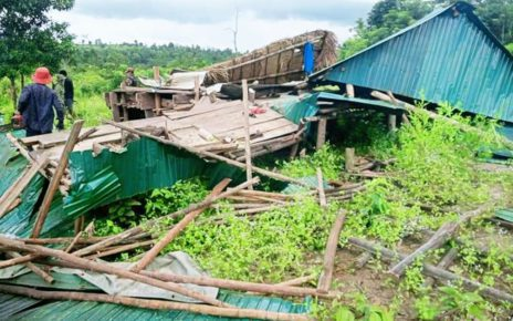 A house in Koh Kong province's Botum Sakor district that villagers say was dismantled by authorities on the week of August 29 to September 4, in a photo supplied by local residents.