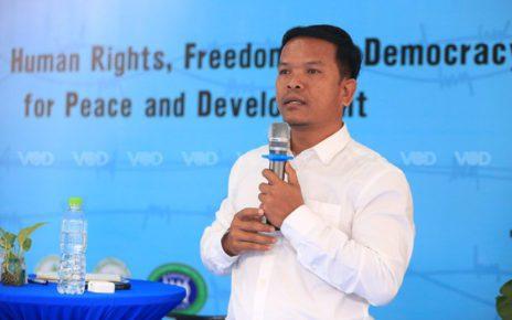Seng Sary speaks at an International Human Rights Day event on December 10, 2020. (Chorn Chanren/VOD)